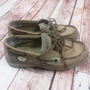 Sperry Top-Sider Kids Tan Leather Boat Shoes